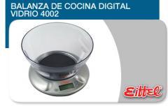 Balanza de Cocina Digital Vidrio 4002