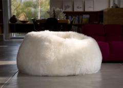 Puf Natural de las Ovejas Blancas
