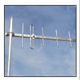 Aerials of a professional radio communication
