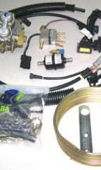 Equipment of gas pipes for automobiles