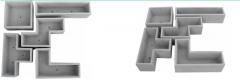 Macetas de Fibrocemento (Tetris)