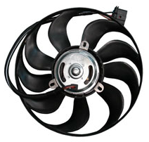 Electric fans for the cooling systems of internal