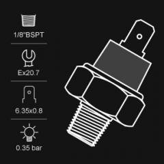 Pressure sensor with indicator