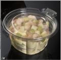 Potes de plástico para los alimentos