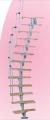 Escalera de módulos articulados con nervadura central