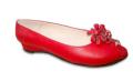 Chatita Roja con Detalle de Flor