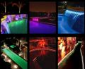 Ejemplos de piscinas e hidros iluminados