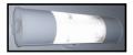 Aplique blanco con difusor policarbonato