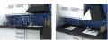 Mueble de cocina en melamina blanca con o sin cantos de aluminio