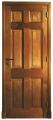 Puerta con marco y hoja en cedro brasileño