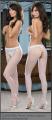 Panty erotica blanca abierta entrepiernas