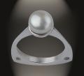 Anillo Copa en plata 925 y perla natural