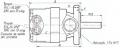 Bombas a paleta desplazamiento fijo Simples Serie 20 P - con válvula divisora de caudal incorporada
