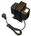 Autotransformadores Con tapa, cable de entrada y salida de dos tomas.
