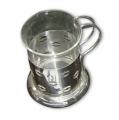 Taza Bodum de vidrio y metal