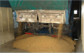 Dispositivo de control de polvo en Descarga de Cereales