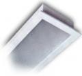 Artefacto de Embutir con Difusor de Acrílico Plano y Pantalla Porta-Equipo Eléctrico