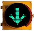 Semaforo óptica flecha verde / cruz roja