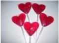 Lollipop en Forma de Corazón del Relleno
