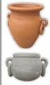 Macetas de cemento (Tinaja con aros y Tinaja cortada con aros)