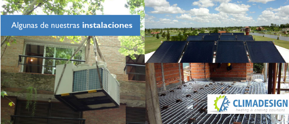 Pedido Instalación de aire acondicionado central e individual calefacción por radiadores y piso radiante.