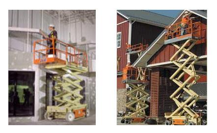 Pedido Alquiler plataforma de elevación y tijeras de elevación