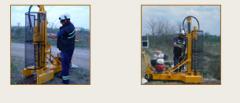 Perforaciones para instalación de freatímetros en suelo