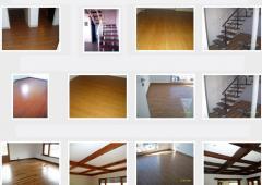 Cielorrasos, pisos y escaleras