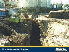 Servicios de movimiento de suelos para obras