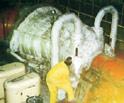 Montaje de Colchonetas sobre una Turbina de Vapor