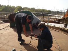 Instalación de cañerías para gases y fluidos