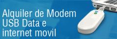Alquiler de Modem USB Data e Internet Mobil