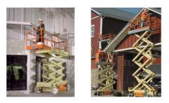 Alquiler plataforma de elevación y tijeras de elevación