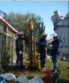 Perforaciones para instalación de freatímetros de suelo arenoso